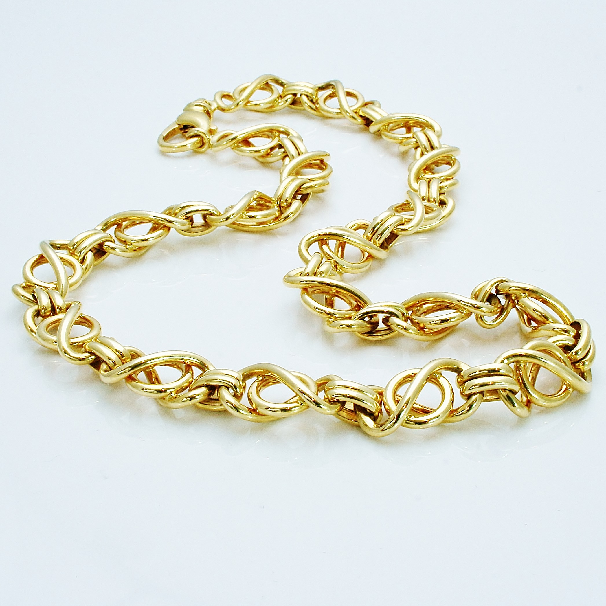 chains figaro solid lobster gold chain with product lock inches yellow