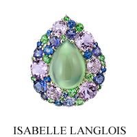 Gemstones are second nature to Isabelle Langlois, her colour palette is infinite, the variety of her drawings defy our imagination.
