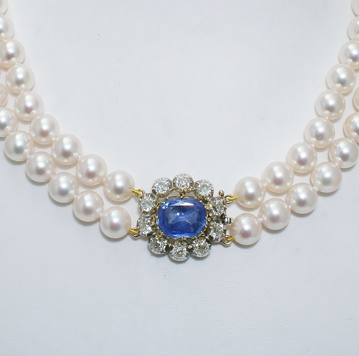 sapphires and victorian steampunk necklace silver shop pearls pearl sapphire aristocract