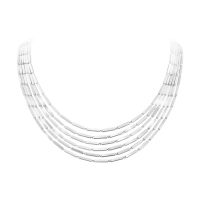 A silver layered necklace No.593C from the Aria collection by Georg Jensen.