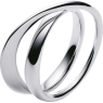 A silver Mobius ring No 443 from the Mobius collection
