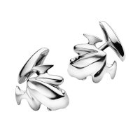 Silver frog cufflinks, No. 331B designed by the master Henning Koppel