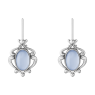 Silver and blue chalcedony 2019 Heritage Collection earrings by Georg Jensen.